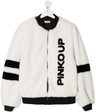 Pinko Kids TEEN fleece bomber jacket