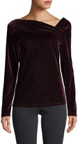 Donna Karan Asymmetrical Velvet Top