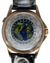 Patek Philippe World Time 5131R 18K Rose Gold & Cloisonne Mens Watch