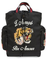 Gucci Men's Patch Backpack - Black
