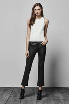 J Brand Selena Leather Mid-Rise Crop Boot Cut in Black