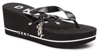 DKNY Nina Wedge Flip Flop