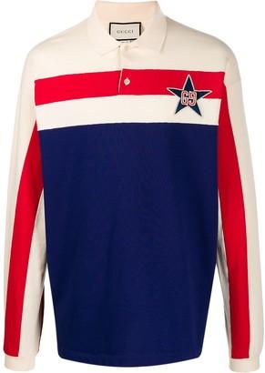 Gucci GG embroidered polo shirt