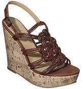 Mia 2 Women's Circe Strappy Wedge Sandal - Brown