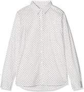Gant Girl's Broadcloth Stretch Dot Shirt Blouse,(Manufacturer Size: 122/128)