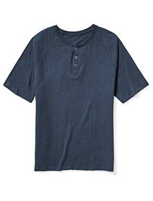 Amazon Essentials Men's Big-Tall Big & Tall Short-Sleeve Slub Henley T-Shirt Shirt