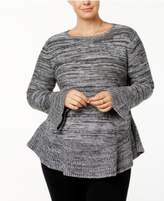 Style&Co. Style & Co Plus Size Ruffled Sweater, Created for Macy's