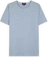A.p.c. Blue Micro-striped Cotton T-shirt