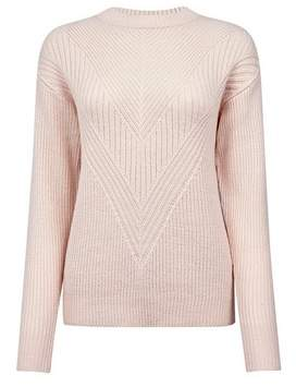 Dorothy Perkins Womens Blush Ribbed Stitch Jumper
