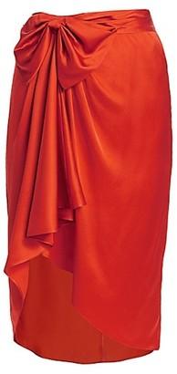 Cinq à Sept Emma Bow Silk Skirt