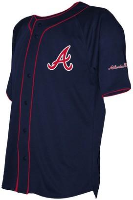 Stitches Men's Navy Atlanta Braves Team Color Full-Button Jersey