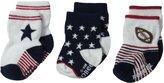 Robeez Baby-Boys Newborn 3 Pair Socks National Sport
