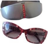 Prada Red Plastic Sunglasses