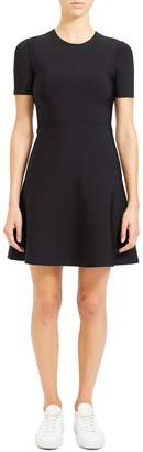 Theory Intarsia Fit-and-Flare Dress