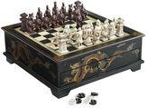Pier 1 Imports Black Dragon Chess & Checker Game Set