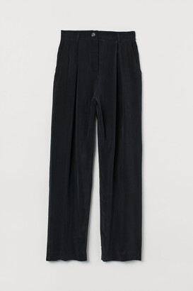 H&M Wide cupro trousers