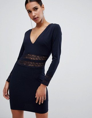 AX Paris long sleeve v neck dress
