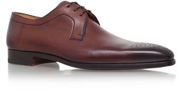 Magnanni Punch Toe Leather Derby