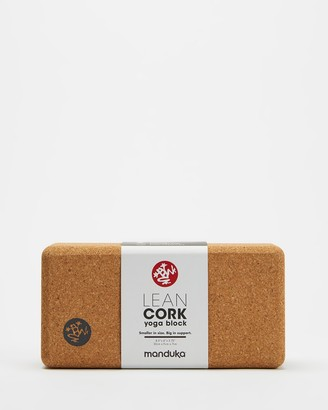 Manduka Brown Yoga Accessories - Lean Cork Block - Size One Size at The Iconic