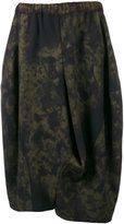 Comme des Garcons printed balloon skirt - women - Wool - S