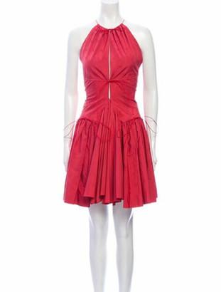 Alaia Halterneck Knee-Length Dress Pink