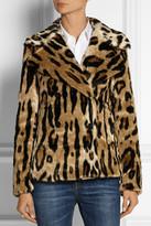 MICHAEL Michael Kors Leopard-print faux fur coat
