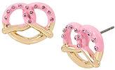 Betsey Johnson Sweet Shop Pretzel Stud Earrings