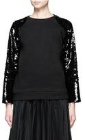 Giamba Sequin embellished cotton fleece sweatshirt