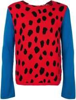 Comme des Garcons animal print knit sweater
