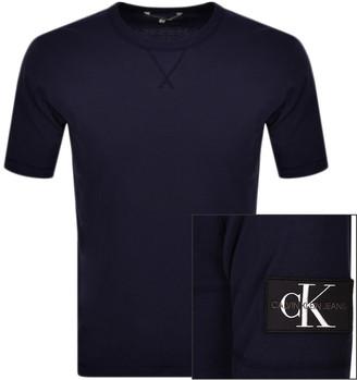 Calvin Klein Jeans Badge Logo T Shirt Navy