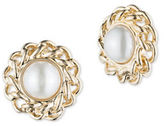 Anne Klein Chain Faux Pearl Stud Earrings