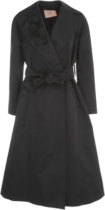 Twin-Set TwinSet Long Embroidered Trench W/belt