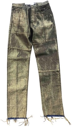 Marques Almeida Gold Cotton Jeans