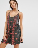 d.RA Vigne Geo Embroidered Playsuit