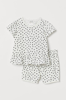 H&M Patterned Set - White