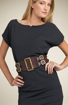 Wide Five Buckle Belt