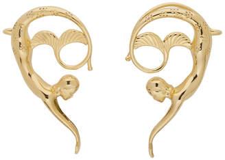 Lanvin Gold Mermaid Earrings