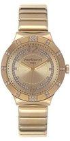 Cacharel CLD 039S 1EM/Women's Watch Analogue Quartz Golden Dial Gold Plated Steel Bracelet