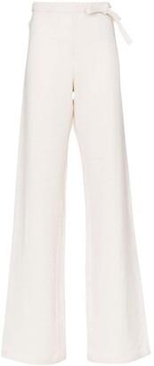 A_Plan_Application high-waisted wide leg hemp trousers
