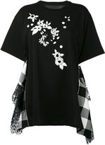Antonio Marras embroidered panel T-shirt - women - Cotton/Polyester - 1
