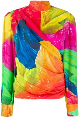 MSGM Wrap Style Blouse