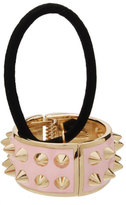 L. Erickson Spiked Enamel Ponytail Holder with Cuff, Light Pink