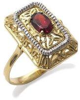 Tatitoto Gioie Women's Ring in 18k Gold with Garnet, Size 8.5, 4.5 Grams