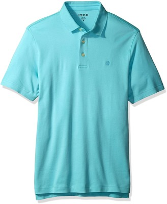 Izod Men's Winward Short Sleeve Solid Heather Interlock Polo