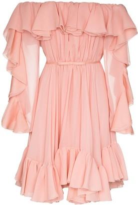 Giambattista Valli Off-The-Shoulder Ruffled Mini Dress