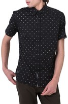 7 Diamonds Men's Free Sound Print Woven Shirt