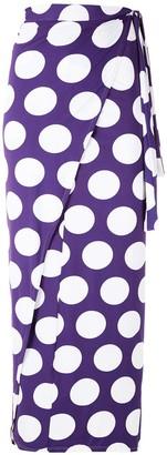 BRIGITTE Polka Dots Midi Skirt