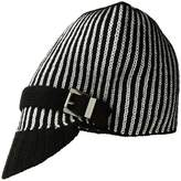 MICHAEL Michael Kors Pinstripe Double Face Jacquard Peak Hat Caps