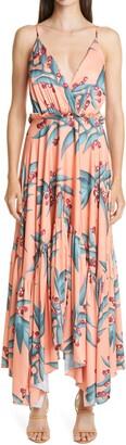 PatBO Heliconia Print Maxi Dress
