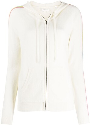 Chinti and Parker Side Stripe Zip-Up Cardigan